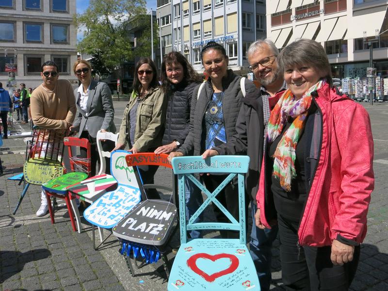 Asylstuhlaktion Stuttgart